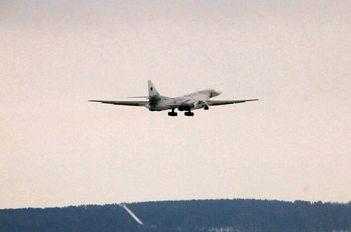 The fully modernized Tu-160M missile carrier bomber performs its first flight with new engines