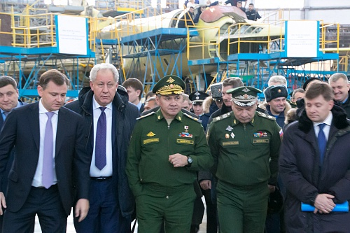 Minister of Defense of the Russian Federation visited Kazan Aviation Factory n.a. S.P. Gorbunov.